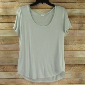 Garage Scoop Neck Mint Green Tee S/P